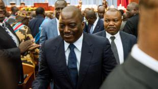 Le président Joseph Kabila au Parlement, mardi 15 novembre 2016, pour son discours très attentu dans un pays en pleine crise.