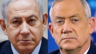 بنيامين نتانياهو وبيني غانتس.
