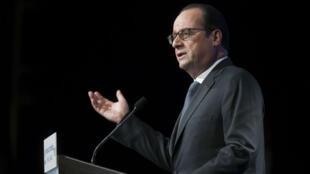 Le président François Hollande à l'Institut du monde arabe (IMA), le 15 janvier.
