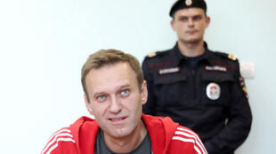 Russian opposition leader Alexei Navalny attends a court hearing in Moscow on August 22, 2019.