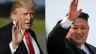 الزعيم الكوري الشمالي كيم-جونغ أن والرئيس الأمريكي دونالد ترامب.
