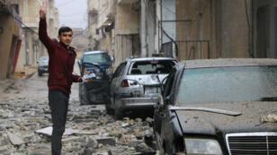La ville d'Afrin, dans le nord de la Syrie, est la cible d'une offensive turque depuis plusieurs jours.