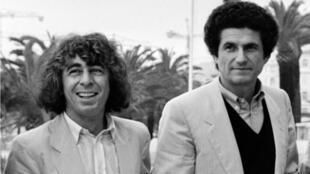 الموسيقي فرانسيس لاي والمخرج كلود لولوش في كان عام 1981