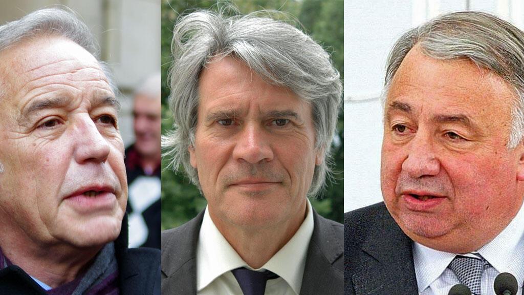 François Rebsamen (à gauche), Stéphane Le Foll (au centre) et Gérard Larcher se sont exprimés sur la disparition de l'ex-maire de Tours, Jean Germain.