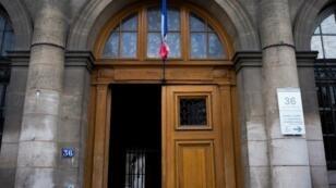 L'entrée de la direction régionale de la police judiciaire de Paris, aux 36 quai des Orfèvres, à Paris.