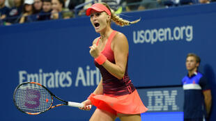 Kristina Mladenovic lors de sa rencontre contre la Russe Ekaterina Makarova, le 6 septembre, à l'US Open.