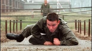 A French conscript is put through his paces in 1996, the year national service was phased out