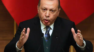 Le président turc Recep Tayyip Erdogan, lors d'un discours prononcé le 20 décembre, à Ankara.