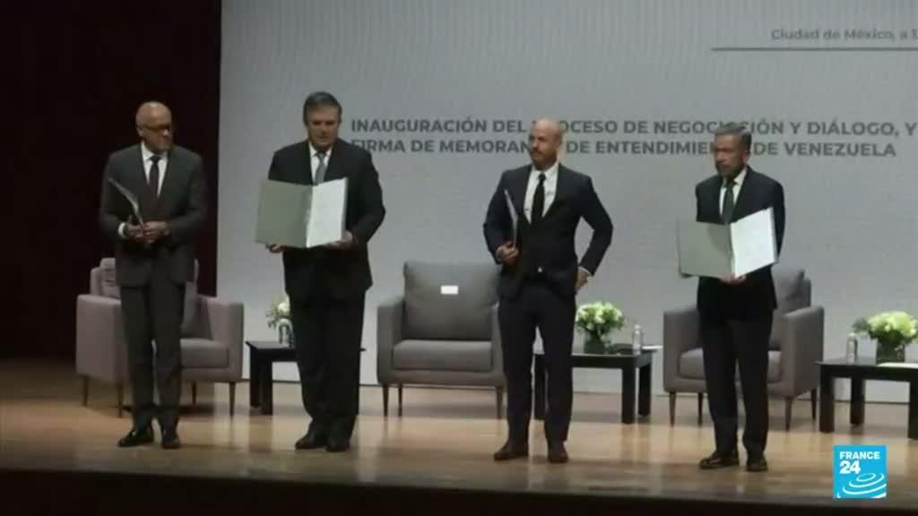 2021-08-14 14:36 Inició en México el nuevo intento de diálogo entre el Gobierno de Venezuela y la oposición