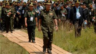 رئيس وزراء كمبوديا هون سين في يونيو/حزيران 2017.