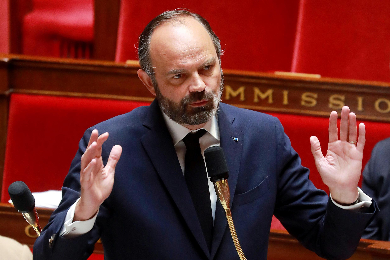 El primer ministro, Edouard Philippe, el 29 de abril de 2020 en la Asamblea Nacional. París, Francia.