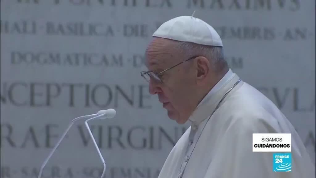 2021-04-05 01:04 Domingo de Pascua: papa Francisco pronunció su discurso desde la Basílica de San Pedro