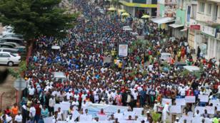 Manifestation contre les accords de sortie de crise à Bujumbura, en février 2017.