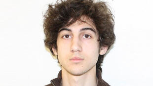 Two pictures of bombing suspect Dzhokhar Tsarnaev released by Boston Police