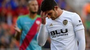 Valencia winger Goncalo Guedes out for two months after surgery for a sports hernia
