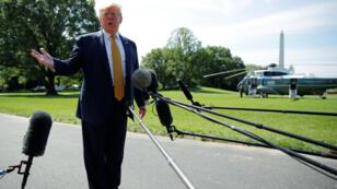 El presidente Donald Trump antes de partir hacia Camp David. Washington, D. C., Estados Unidos, 22 de junio de 2019.