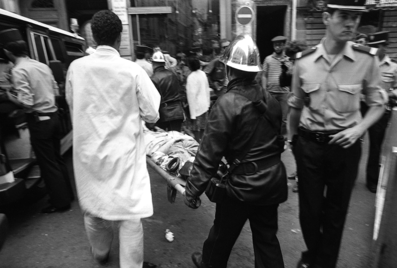 هجوم شارع روزييه في الحي اليهودي في باريس. فرنسا في 9 أغسطس/آب 1982.