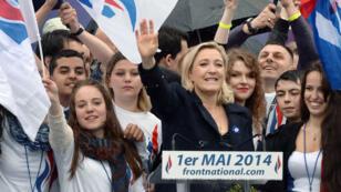 """ماريان لوبان زعيمة حزب """"الجبهة الوطنية"""" اليميني في فرنسا"""