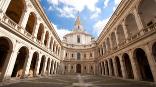 The church of Sant'Ivo alla Sapienza in Rome, one of baroque architect Francesco Borromini's masterpieces.