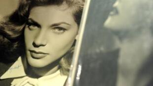Lauren Bacall, épouse d'Humphrey Bogart, icône américaine des années 40 et 50.