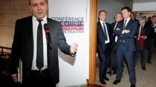Le secrétaire général de la CFDT Laurent Berger le 30 janvier 2020 à Paris