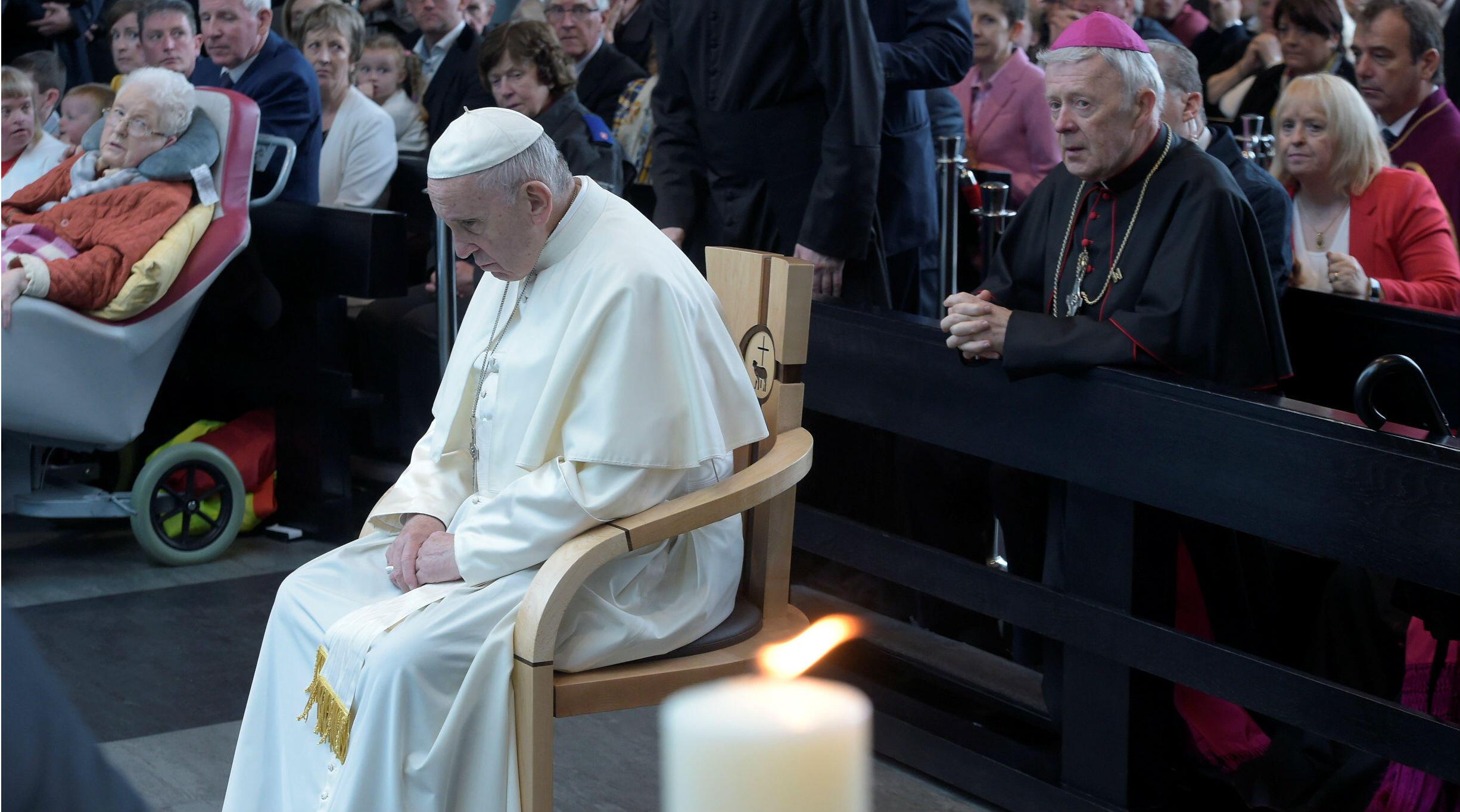 El papa Francisco visita el santuario Knock en Irlanda. 26 de agosto de 2018.