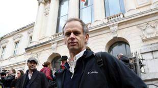 Pierre-Alain Mannoni devant le tribunal de Nice, le 23 novembre 2016.