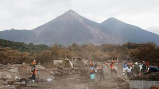 La explosión del volcán de Fuego afectó los departamentos de Escuintla, Sacatepéquez y Chimaltenango. 10 de junio de 2018.