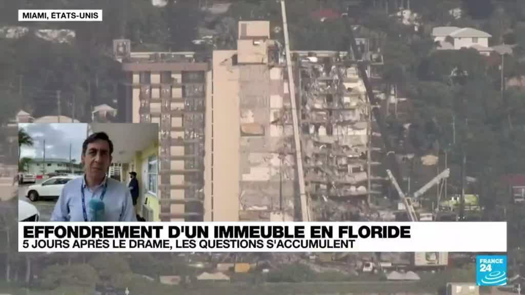 2021-06-29 18:07 Effondrement d'un immeuble en Floride : Joe Biden se rendra sur les lieux du drame jeudi