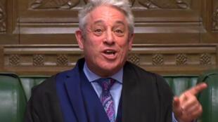 Image tirée de la diffusion du débat parlementaire britannique, à la Chambre des communes, le 16 janvier 2019.
