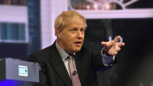 Boris Johnson durante el debate televisivo en el que participó en Londres el 18 de junio de 2019 con los candidatos que compiten por reemplazar a Theresa May.