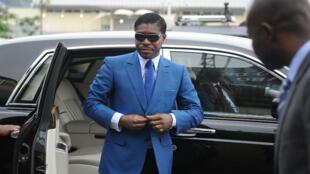 Teodorin Obiang, fils aîné du président de Guinée Équatoriale, en 2013
