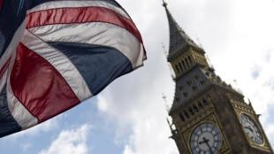 العلم البريطاني في لندن بتاريخ 7 حزيران/يونيو 2017