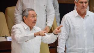 Raul castro lors de son discours à l'Assemblée nationale le 20 décembre 2014.