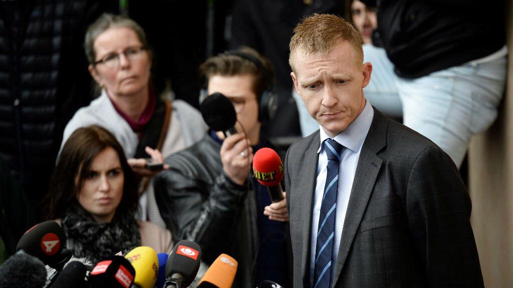El fiscal Jakob Buch-Jepsen mientras ofrecía la rueda de prensa en la que fue anunciado el veredicto de cadena perpetua contra el danés Peter Madsen en Dinamarca el 25 de abril d 2018.
