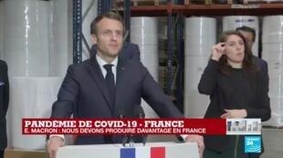 2020-03-31 13:11 REPLAY - L'intégralité du de discours d'Emmanuel Macron à Kolmi-Hopen