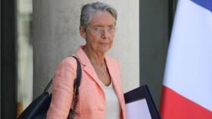 La ministre des Transports Élisabeth Borne à l'issue du du Conseil de défense écologique, mardi 9 juillet.