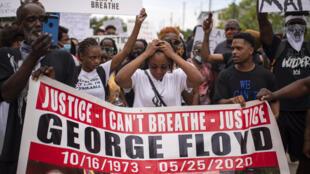 مظاهرة في هيوستن تنديدا بمقتل جورج فلويد