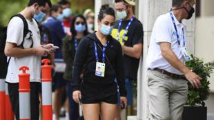 La joueuse de tennis italienne Martina Trevisan avant de passer un test Covid, le 4 février 2021 à Melbourne