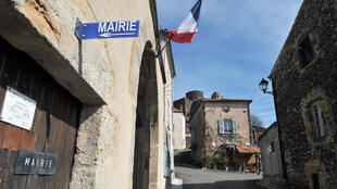 The entrance of the town hall of Chalus, in the centre of France, on 28 March 2014. Thierry Zoccolan, AFP
