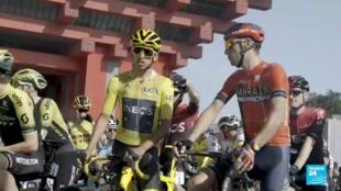 Le vainqueur en titre du Tour de France, le colombien, Egan Bernal.