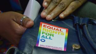 Un activiste LGBT lors d'une audience au tribunal de Nairobi, au Kenya, le 22´février2019.