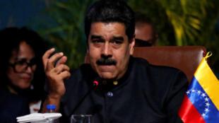El presidente de Venezuela, Nicolás Maduro, durante el encuentro de exportación que se llevó a cabo en Bolivia el 24 de noviembre.