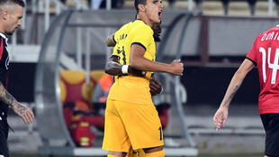 Erik Lamela scored the opening goal as Tottenham won 3-1 over Shkendija in Macedonia