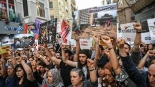 احتجاجات في إسطنبول في 31 أيار/مايو 2018 إحياء للذكرى الخامسة لحراك غازي
