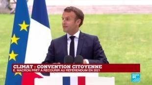 2020-06-29 11:55 REPLAY - Le discours d'Emmanuel Macron lors de la Convention citoyenne sur le climat