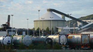 Le site incendié de l'usine Lubrizol, à Rouen, une semaine après l'incendie survenu le 26 septembre 2019.