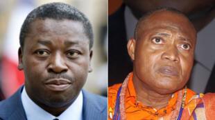 Le président sortant, Faure Gnassingbé, au pouvoir depuis 2005, et son plus sérieux adversaire, Jean-Pierre Fabre.