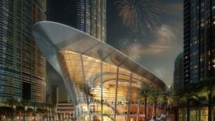 مخطط لمبنى الأوبرا في دبي