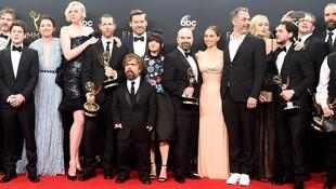 """Le casting de """"Games of Thrones"""", lundi 17 septembre 2018 à Los Angeles."""